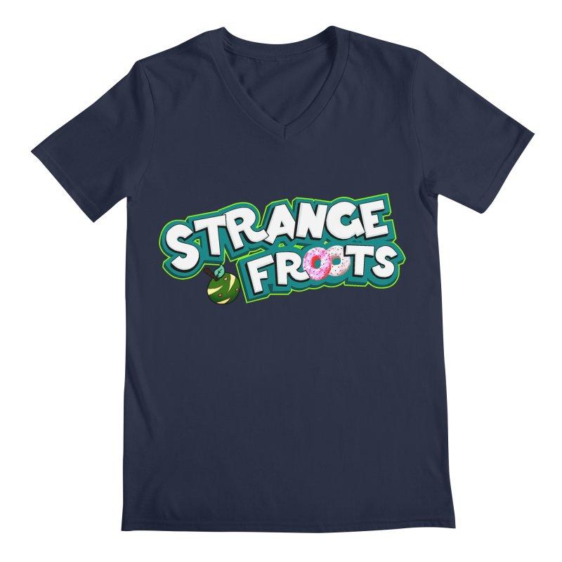 Strange Froots Cereal Logo Men's V-Neck by Strange Froots Merch