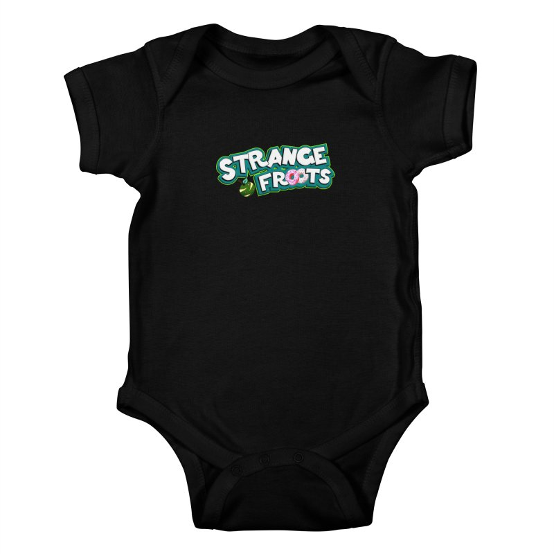 Strange Froots Cereal Logo Kids Baby Bodysuit by Strange Froots Merch
