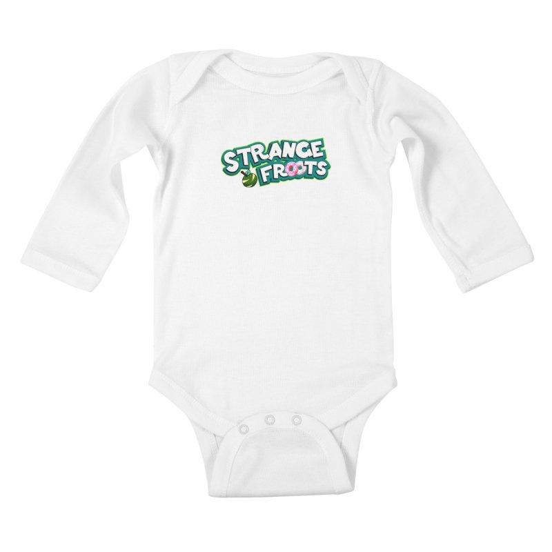Strange Froots Cereal Logo Kids Baby Longsleeve Bodysuit by Strange Froots Merch