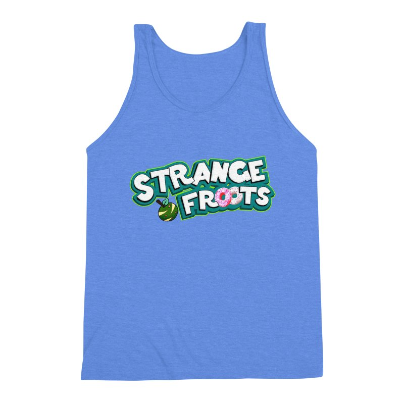 Strange Froots Cereal Logo Men's Triblend Tank by Strange Froots Merch