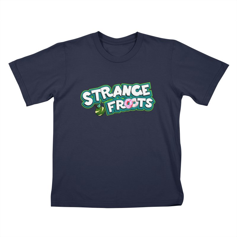 Strange Froots Cereal Logo Kids T-Shirt by Strange Froots Merch