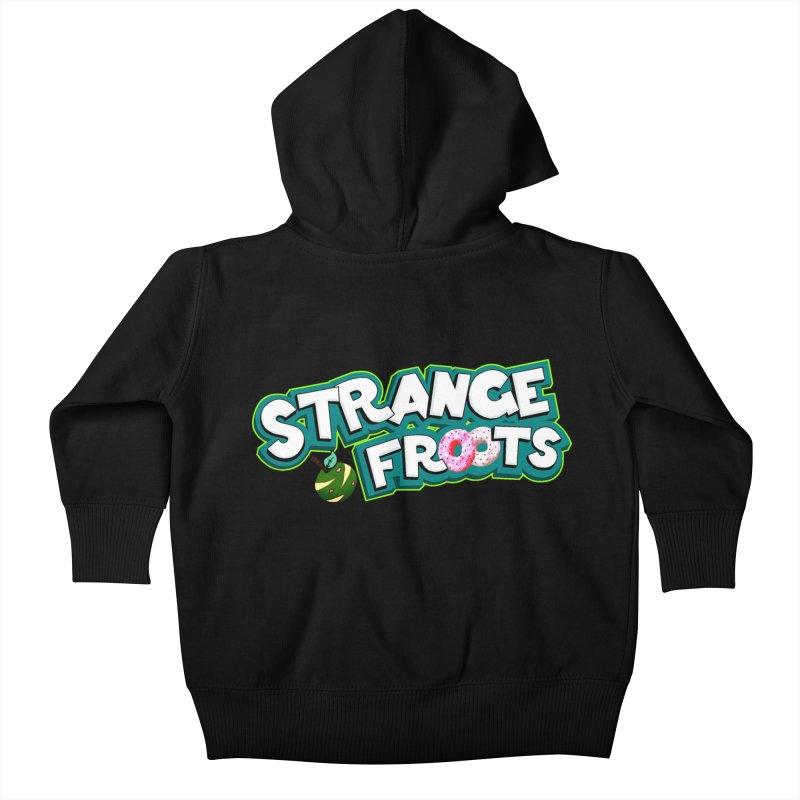 Strange Froots Cereal Logo Kids Baby Zip-Up Hoody by Strange Froots Merch