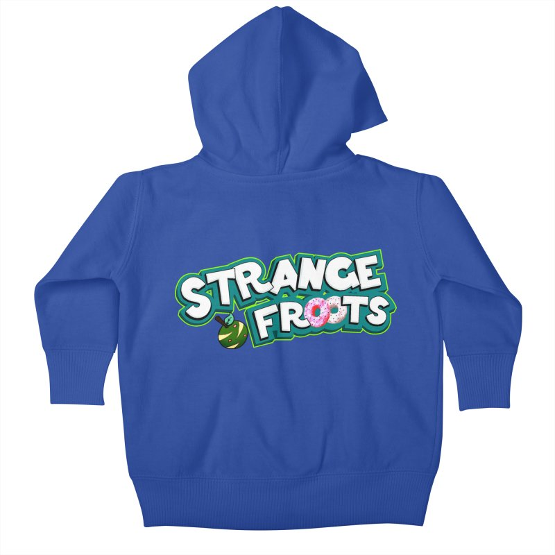 Strange Froots Cereal Logo Kids Baby Zip-Up Hoody by Strange Froots Merch