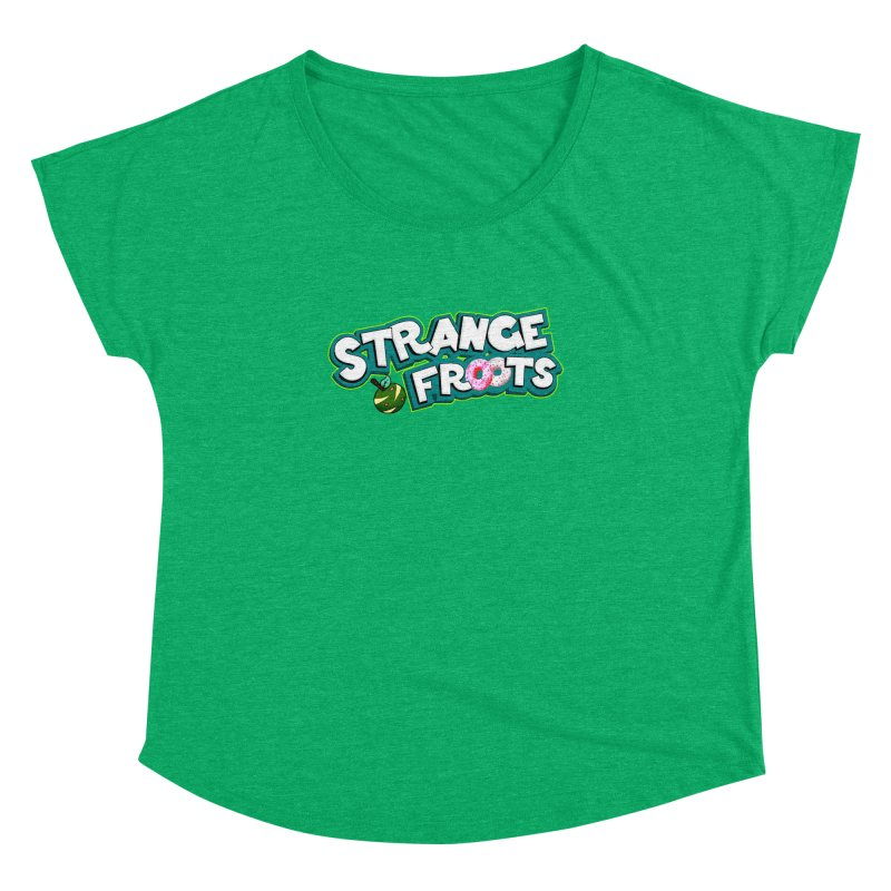 Strange Froots Cereal Logo Women's Dolman Scoop Neck by Strange Froots Merch