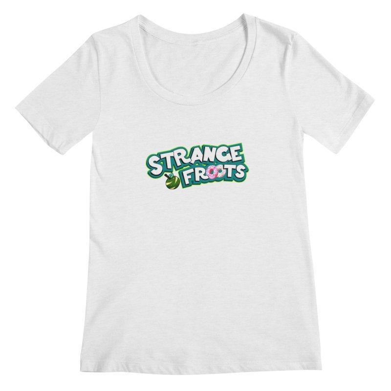Strange Froots Cereal Logo Women's Regular Scoop Neck by Strange Froots Merch