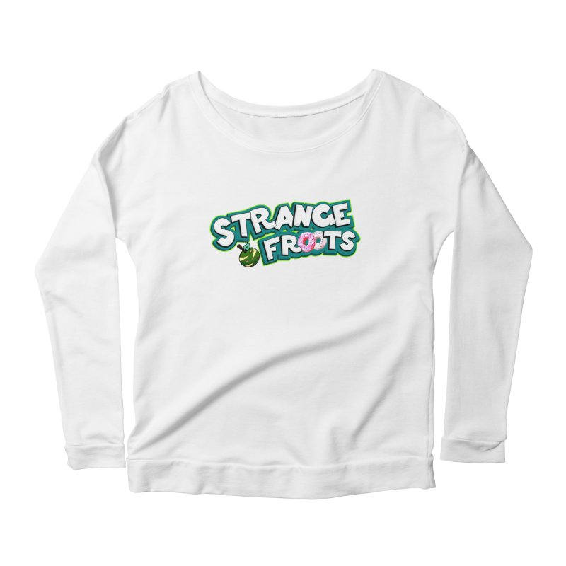 Strange Froots Cereal Logo Women's Scoop Neck Longsleeve T-Shirt by Strange Froots Merch