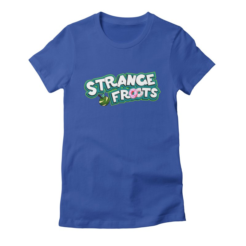 Strange Froots Cereal Logo Women's Fitted T-Shirt by Strange Froots Merch
