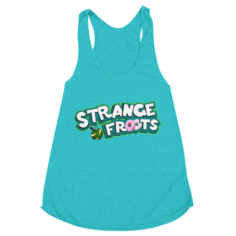 Strange Froots Cereal Logo Women's Racerback Triblend Tank by Strange Froots Merch