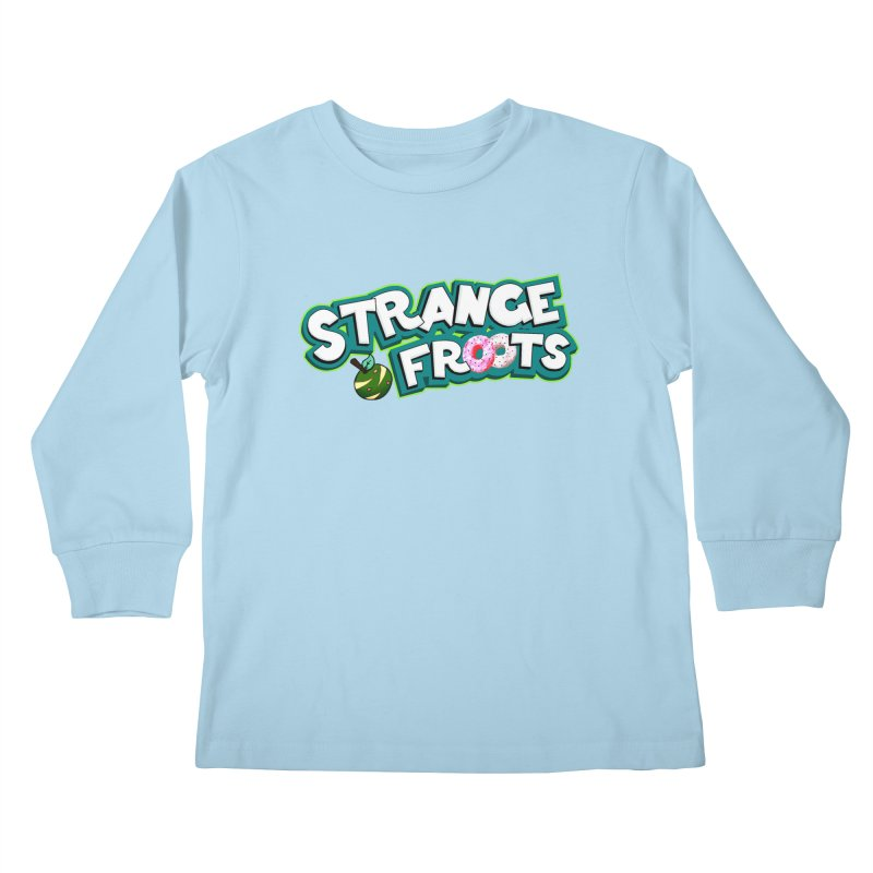 Strange Froots Cereal Logo Kids Longsleeve T-Shirt by Strange Froots Merch