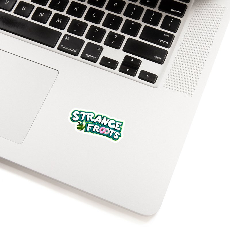 Strange Froots Cereal Logo Accessories Sticker by Strange Froots Merch