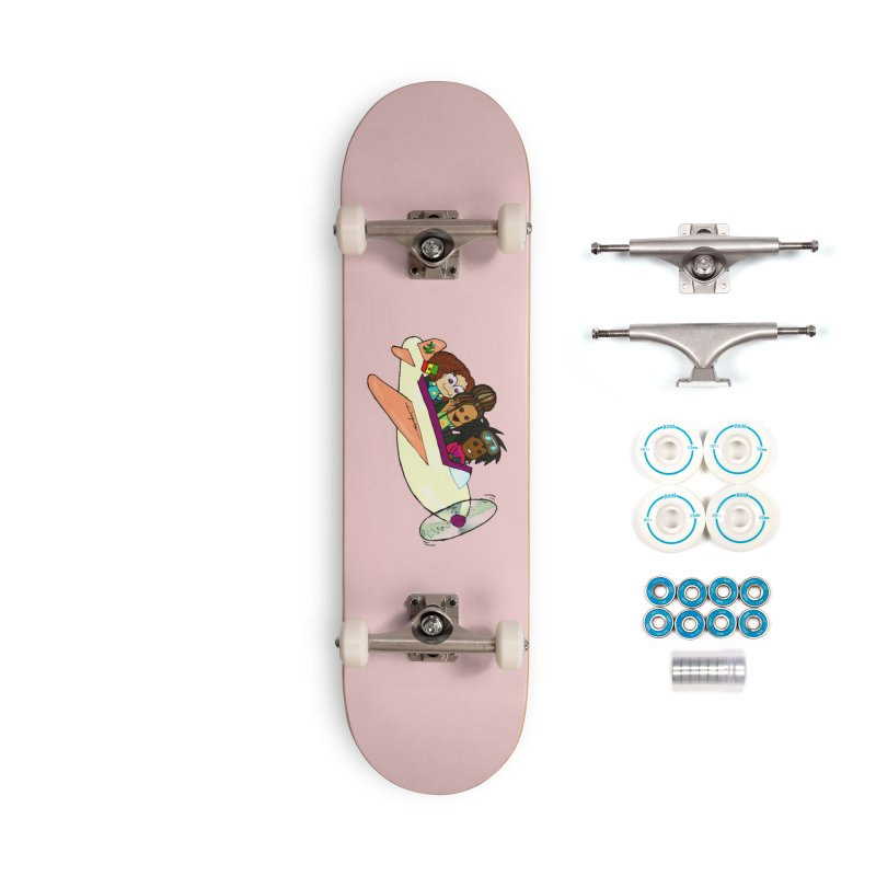Froots Fly to Dakar Accessories Complete - Basic Skateboard by Strange Froots Merch
