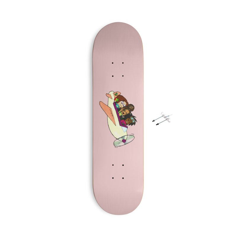 Froots Fly to Dakar Accessories With Hanging Hardware Skateboard by Strange Froots Merch