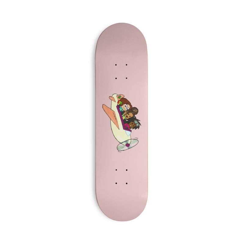Froots Fly to Dakar Accessories Deck Only Skateboard by Strange Froots Merch
