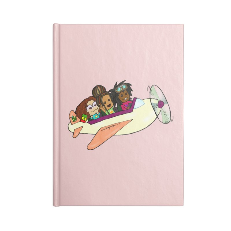 Froots Fly to Dakar Accessories Lined Journal Notebook by Strange Froots Merch