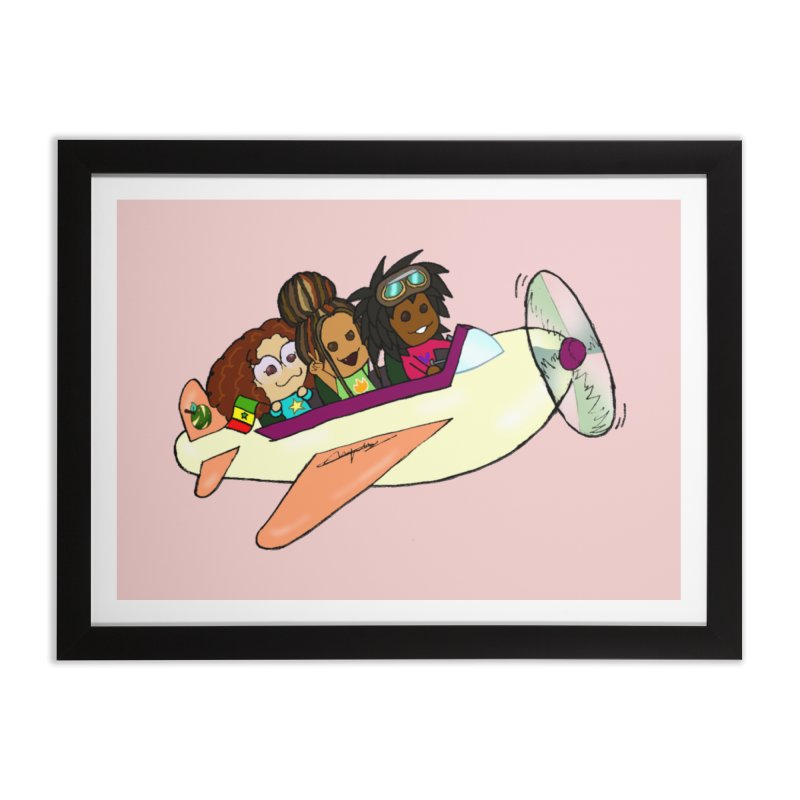 Froots Fly to Dakar Home Framed Fine Art Print by Strange Froots Merch