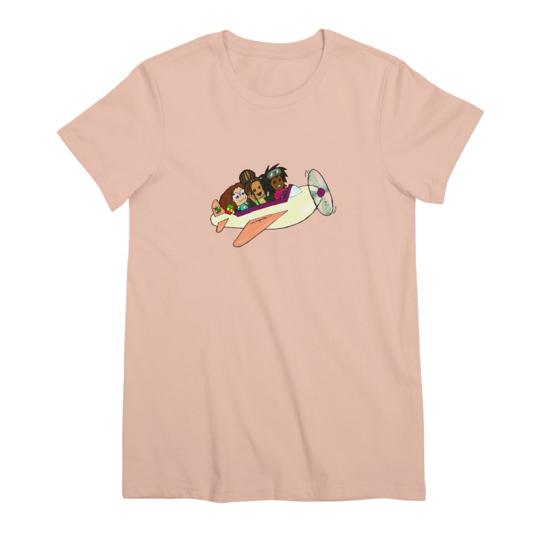 Froots Fly to Dakar Women's Premium T-Shirt by Strange Froots Merch