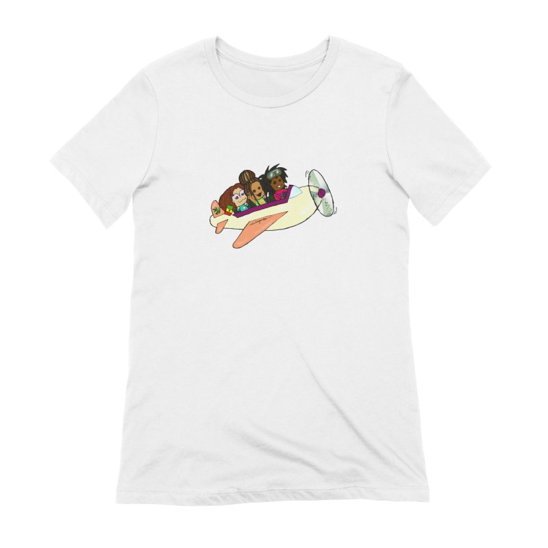 Froots Fly to Dakar Women's Extra Soft T-Shirt by Strange Froots Merch