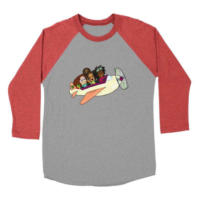 Froots Fly to Dakar Men's Baseball Triblend Longsleeve T-Shirt by Strange Froots Merch