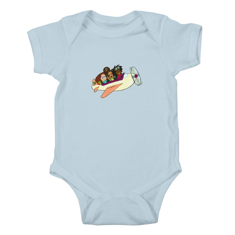 Froots Fly to Dakar Kids Baby Bodysuit by Strange Froots Merch