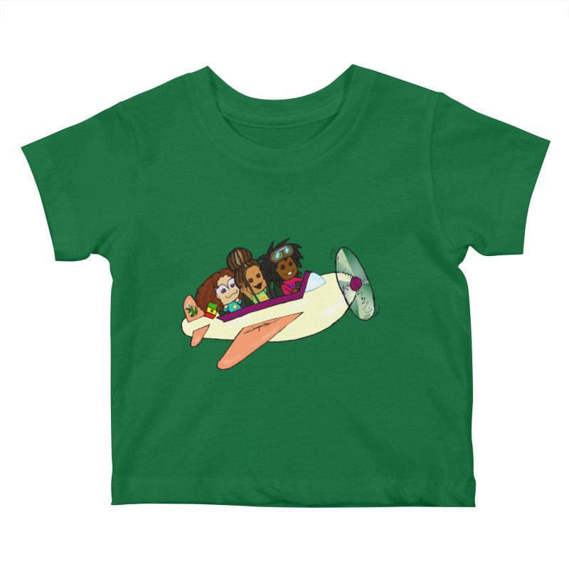Froots Fly to Dakar Kids Baby T-Shirt by Strange Froots Merch