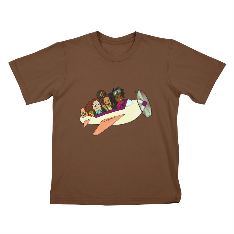 Froots Fly to Dakar Kids T-Shirt by Strange Froots Merch