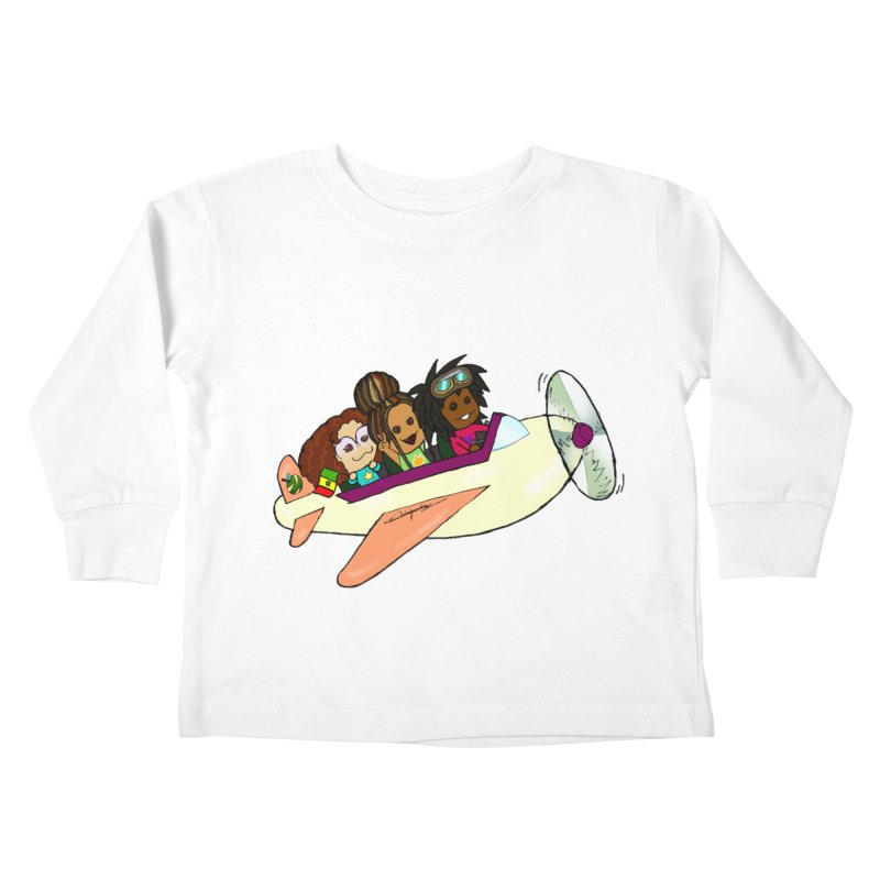 Froots Fly to Dakar Kids Toddler Longsleeve T-Shirt by Strange Froots Merch
