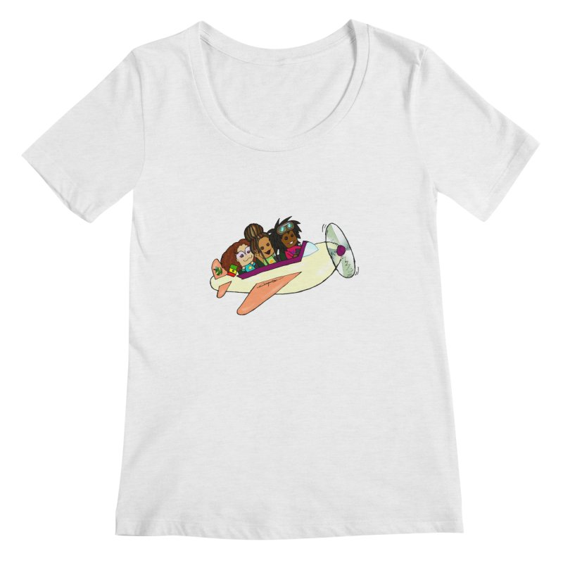 Froots Fly to Dakar Women's Regular Scoop Neck by Strange Froots Merch