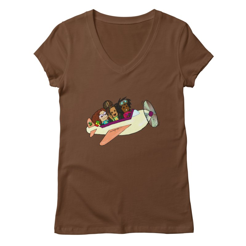 Froots Fly to Dakar Women's Regular V-Neck by Strange Froots Merch