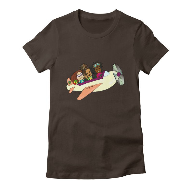 Froots Fly to Dakar Women's Fitted T-Shirt by Strange Froots Merch