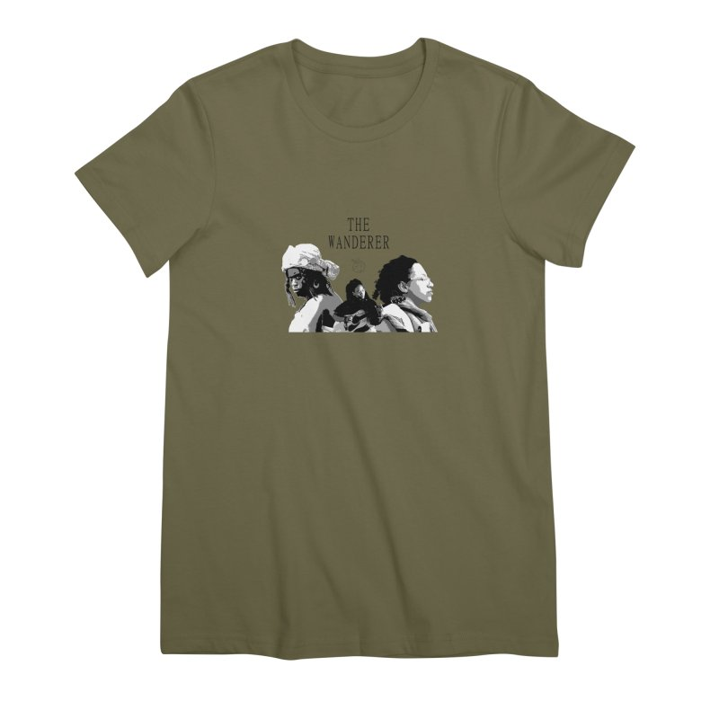 The Wanderer - Grayscale Women's Premium T-Shirt by Strange Froots Merch