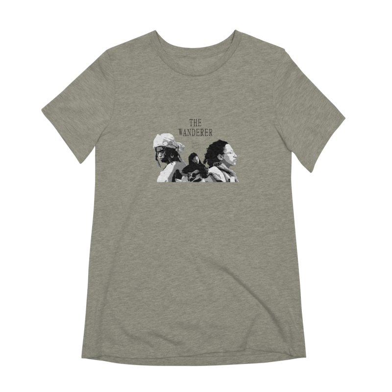 The Wanderer - Grayscale Women's Extra Soft T-Shirt by Strange Froots Merch