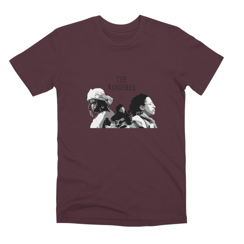 The Wanderer - Grayscale Men's Premium T-Shirt by Strange Froots Merch