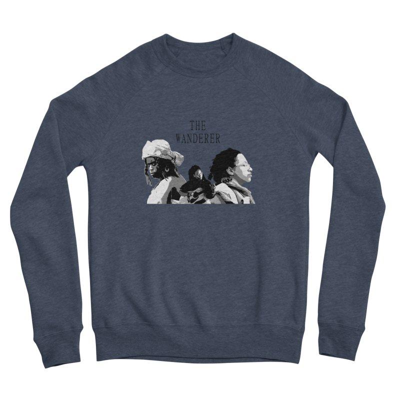The Wanderer - Grayscale Women's Sponge Fleece Sweatshirt by Strange Froots Merch