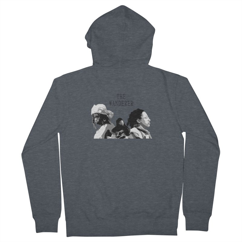 The Wanderer - Grayscale Women's French Terry Zip-Up Hoody by Strange Froots Merch