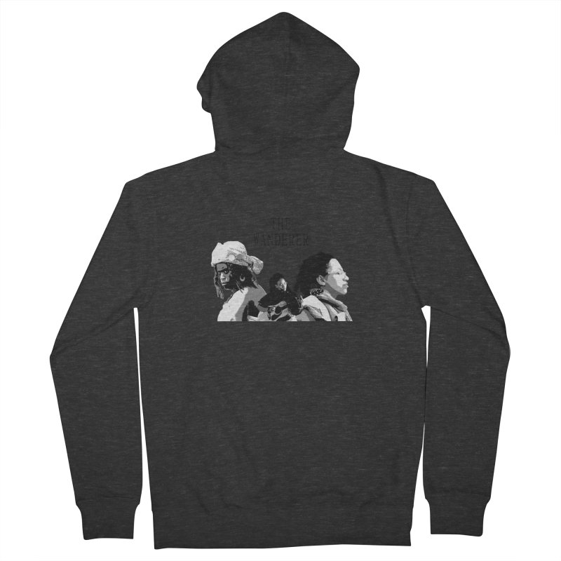 The Wanderer - Grayscale Men's French Terry Zip-Up Hoody by Strange Froots Merch