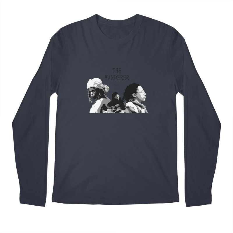 The Wanderer - Grayscale Men's Regular Longsleeve T-Shirt by Strange Froots Merch