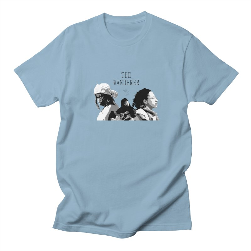 The Wanderer - Grayscale Men's Regular T-Shirt by Strange Froots Merch
