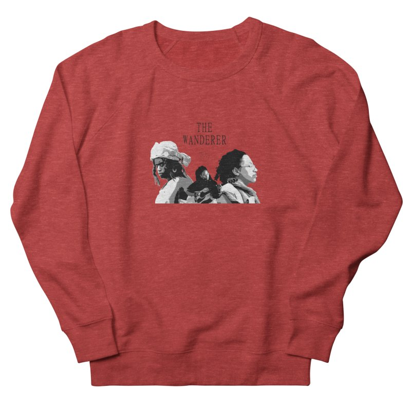 The Wanderer - Grayscale Women's French Terry Sweatshirt by Strange Froots Merch