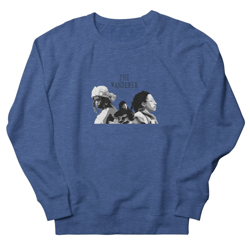 The Wanderer - Grayscale Men's French Terry Sweatshirt by Strange Froots Merch