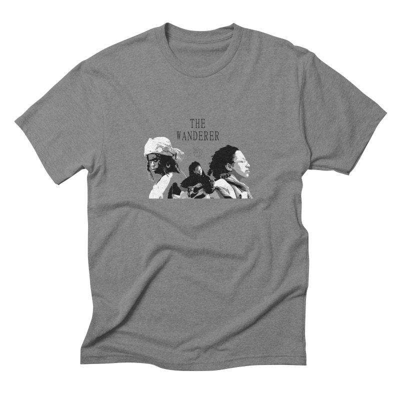 The Wanderer - Grayscale Men's Triblend T-Shirt by Strange Froots Merch