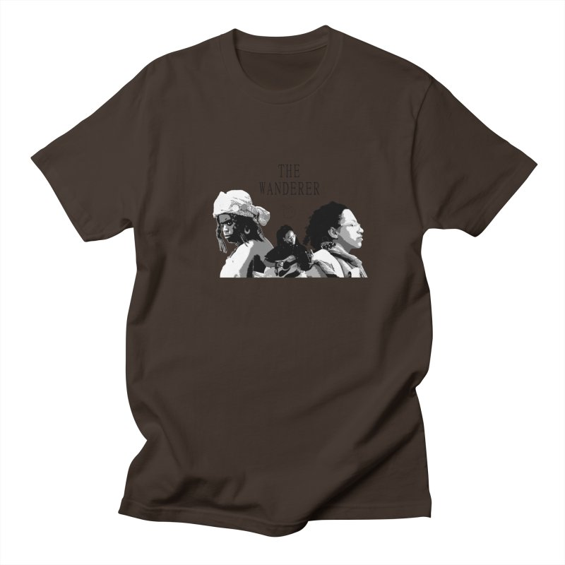 The Wanderer - Grayscale Men's Regular T-Shirt by Strange Froots Merch