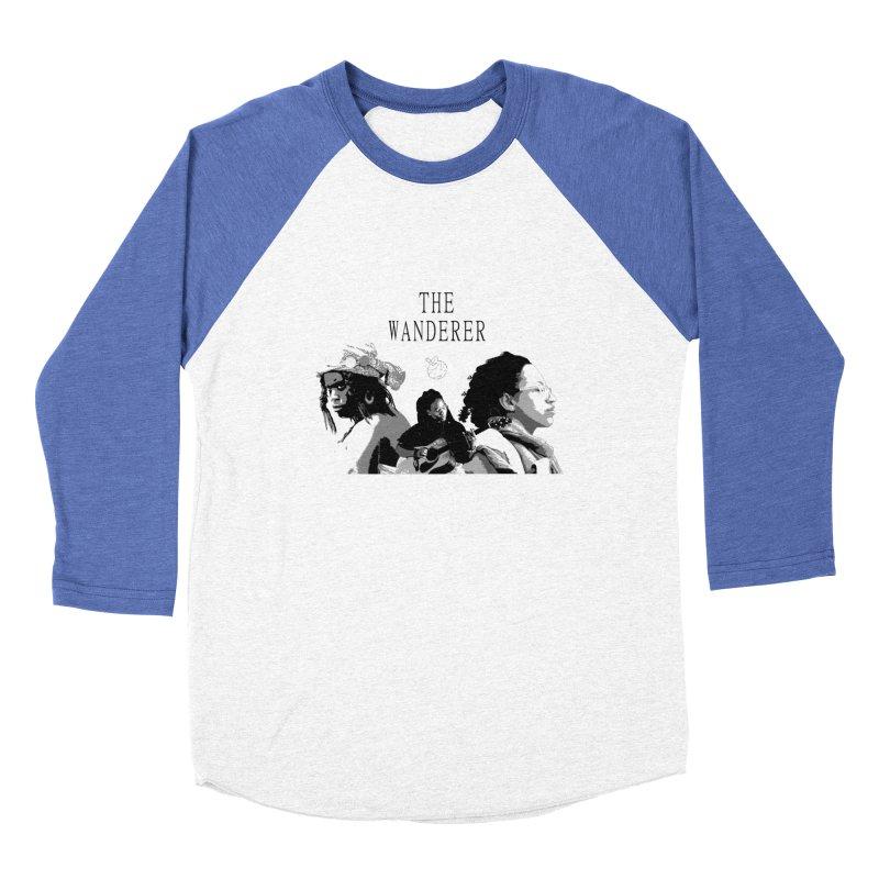 The Wanderer - Grayscale Men's Baseball Triblend Longsleeve T-Shirt by Strange Froots Merch