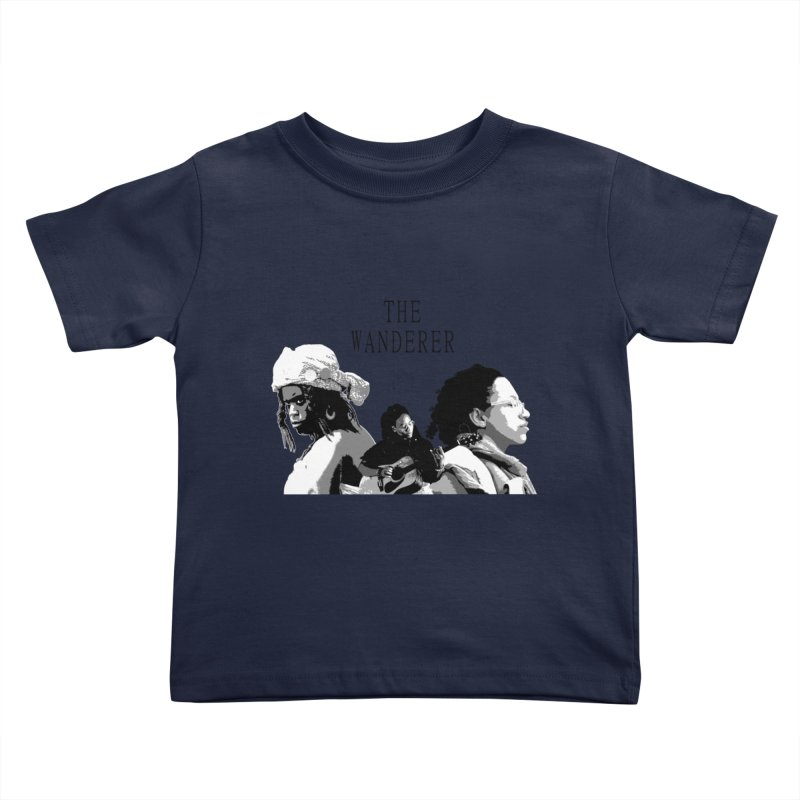 The Wanderer - Grayscale Kids Toddler T-Shirt by Strange Froots Merch