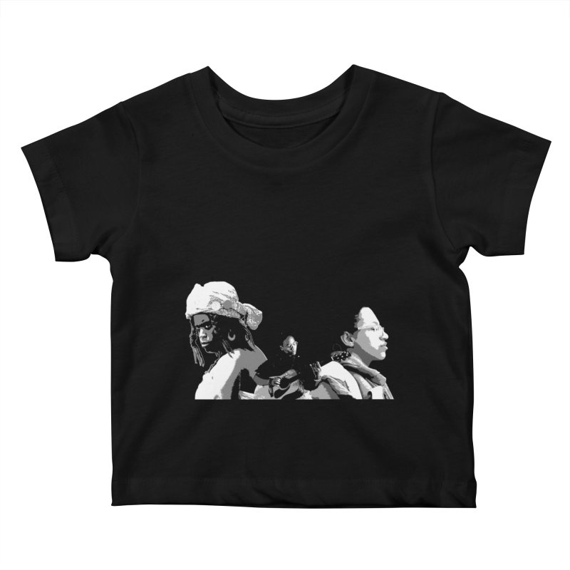 The Wanderer - Grayscale Kids Baby T-Shirt by Strange Froots Merch