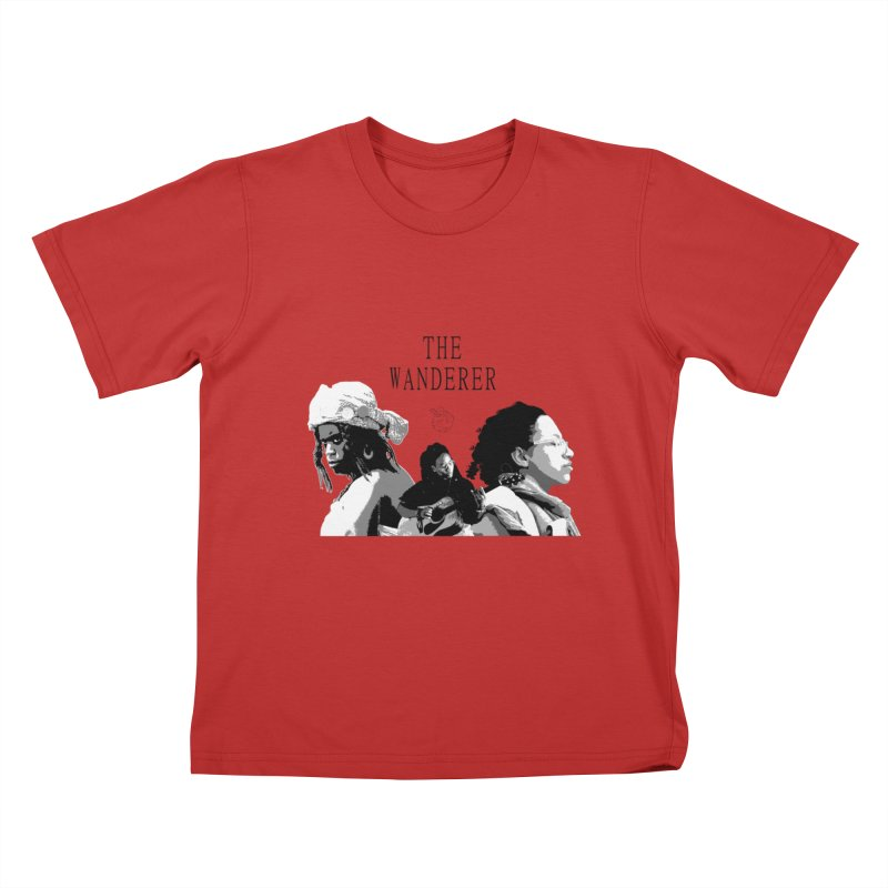 The Wanderer - Grayscale Kids T-Shirt by Strange Froots Merch