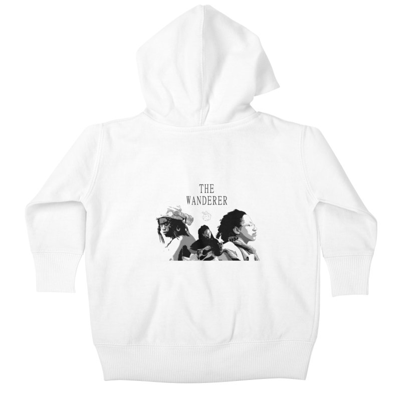 The Wanderer - Grayscale Kids Baby Zip-Up Hoody by Strange Froots Merch