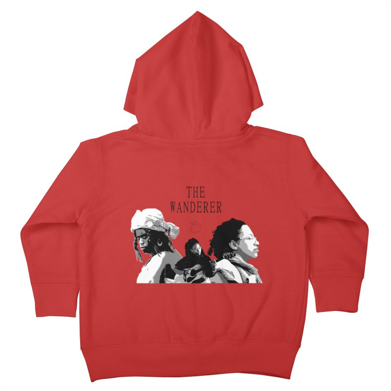 The Wanderer - Grayscale Kids Toddler Zip-Up Hoody by Strange Froots Merch