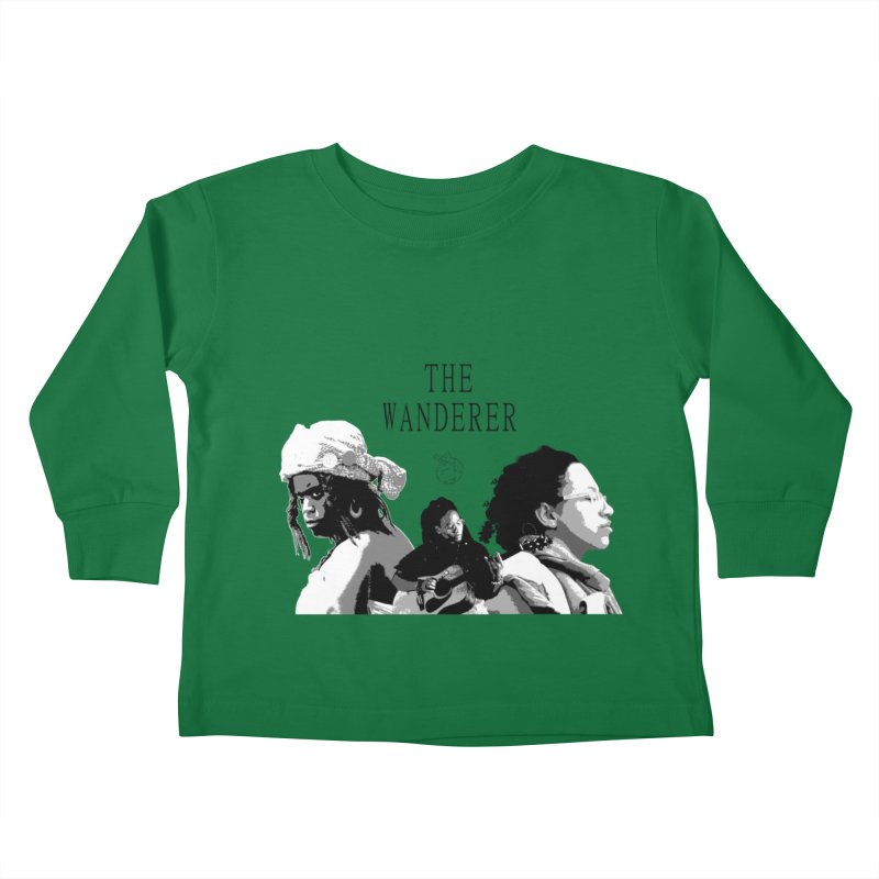 The Wanderer - Grayscale Kids Toddler Longsleeve T-Shirt by Strange Froots Merch