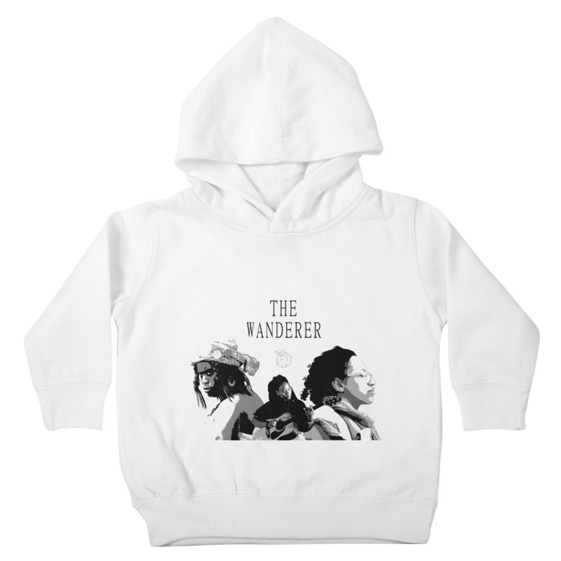 The Wanderer - Grayscale Kids Toddler Pullover Hoody by Strange Froots Merch