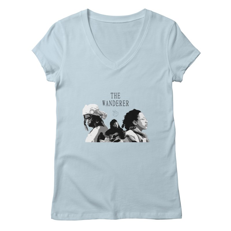 The Wanderer - Grayscale Women's Regular V-Neck by Strange Froots Merch